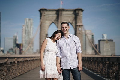 Rowena and Darren Engagement Session Brooklyn New York