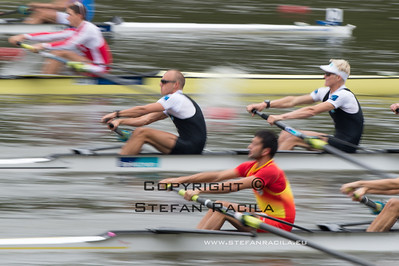 2014 World Rowing Championships, Amsterdam, the Netherlands. 25/08/2014 Heats Repechage25/08/2014 Heats men's lightweight four Photo: Stefan Racila