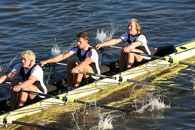 Molesey on the way to winning Senior 1 4x at the Fours Head of the River on the Thames in London.