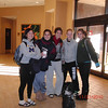 Part of Carolyn's crew at the Crowne Plaza lobby