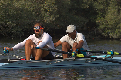 Tariq and Anil on the creek while I coached them.