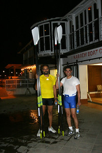 Tariq and I back from our row.  The weather was verypleasant but I was still soaked in sweat.