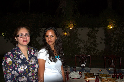 Dinner at the Faruqui's.  Aisha with her mom, Ambreen.