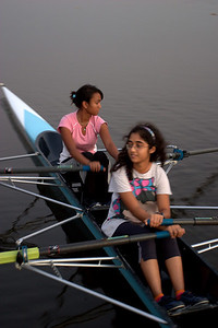 Daanika and Sama on the water.