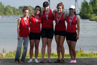 Ontario Bronze Medallists for the Womens U17 Lightweight Fours