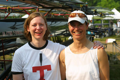 Linda Iqbal and Linda Muri.  They were both in the WV8 in 1984.  It was arguably the fastest MIT women's eight yet.