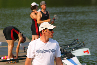 Ted and the lightweights on the dock