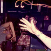Frosh Lights in the bus to Yale.  1981