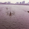 The Harvard, MIT, Dartmouth race.  Freshman Lightweight 8's.  We are in the middle leading by about a length coming into Harvard Bridge.  We were so stoked going into the race.  There was only one goal...beat Harvard.