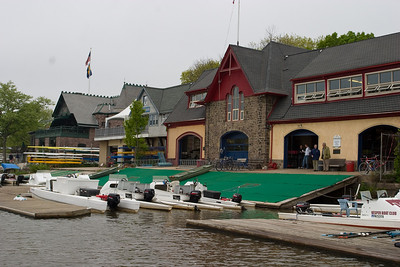The UPenn boathouse the morning of the race.  It was an overcast day with a slight tailwind.