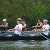 The frist 20 strokes of the race.  The start is staggered on the schuylkill with the MIT crew starting about 4 seats ahead.