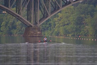 Kiran heading upstream.