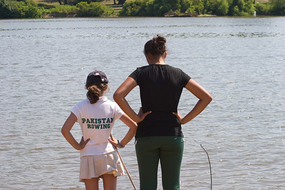 The girls keeping an eye out for Penn AC.
