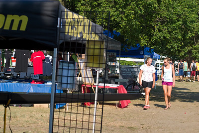 Vendors tents along the course.