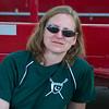Linda at the trailer.