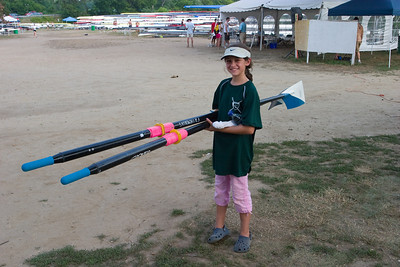 Anisa helping with oars.
