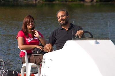 Tariq taking Mehnaz for a ride in the launch.  We thought it was appropriate that he sing to her while driving her around!