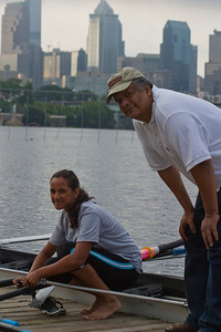 Father and daughter on the Schuylkill.