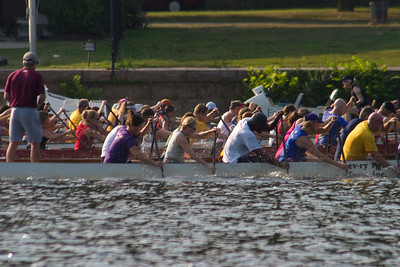 Dragon Boats racing on the Schuylkill.