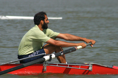 Adeel Sultan, a Navy oarsman in the stroke seat.  He was one of the fastest heavyweights.