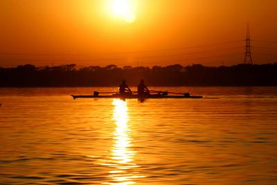 A pair on Rawal Lake.