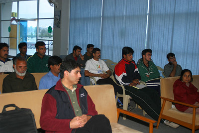 The media room where I gave lectures to the coaches and athletes.  Rizwan had arranged for pther lectures besides the ones I gave so that the coaching session could go on while I was on the water instructing the rowers.