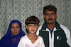 Ghafoor, his wife and one of his daughters.