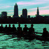 T Shirt Idea for the Cleveland State University Rowing Team with Cleveland in the background.