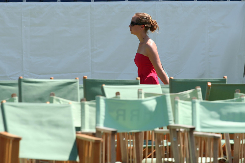 Connie walking through the Stewards Enclosure at Henley Royal Regatta. The photo was taken from an umpires launch on the course.