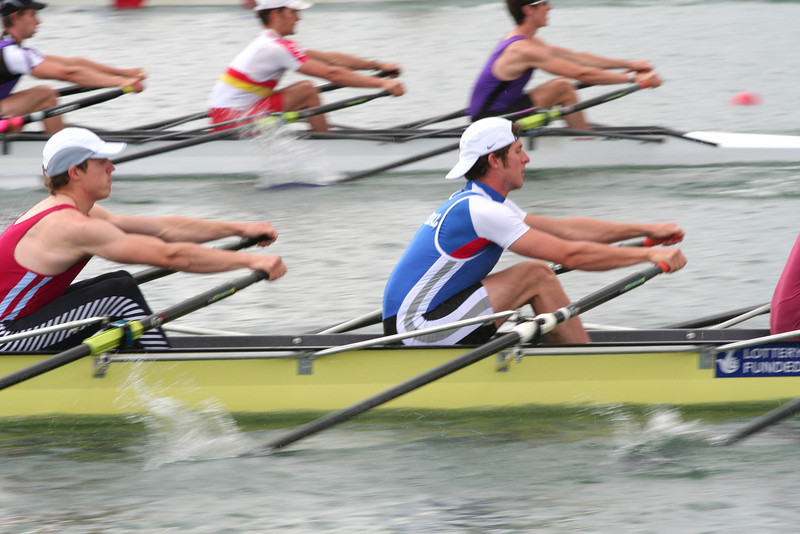The start of a heat of Elite 4x at Marlow Amateur Regatta 2007