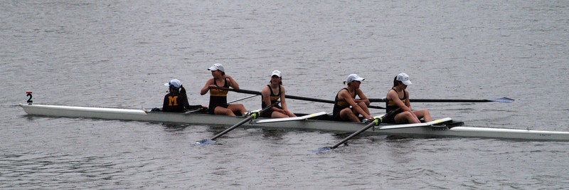 Carolyn's Senior Lightweight 4+ finishes an early morning heat with a 8:00 min 2nd place finish and qualifies for the afternoon finals