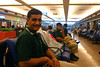 Ali Hasan in the waiting area in Islamabad Airport.  Our flight got delayed by a few hours.