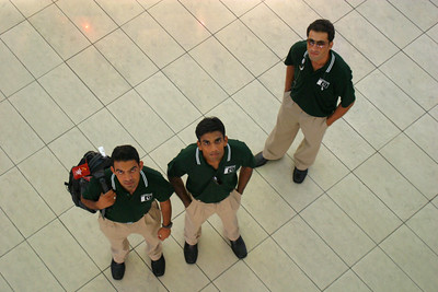 Zaheer, Zohaib and Asad shopping while I looked down from the upper level.