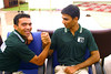 Zaheer and Zohaib trying to do some serious arm wrestling.