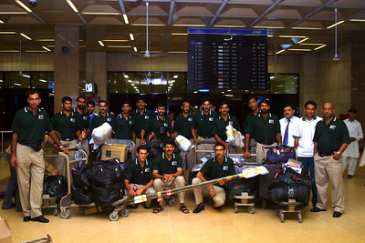 The Karachi Airport is modern and clean.  The team was met by some friends and relatives of the rowers who provided some food and juices before we went onward.