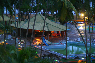 The hotel had a bunch of swimming and wading pools and a poolside bar that the tourists frequented.