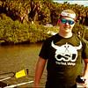 Alec wearing his CSU The Real Vikings Crew Shirt
