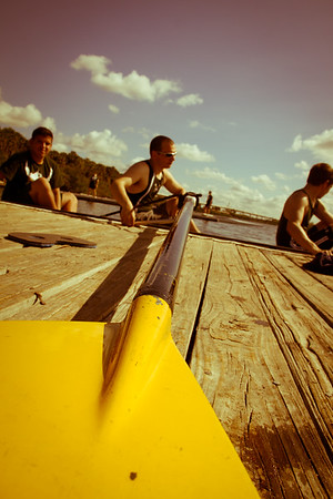 Cool oar and blade shot on the docks