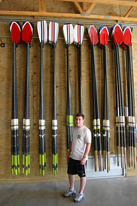 The real oars next to the imposters.  I sure am glad the Exec Committee fixed the problem.