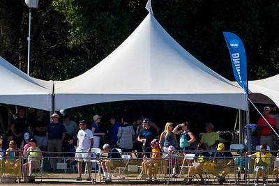 Yale parents starting to come out of the tent for races.