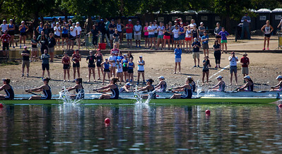 1V passes the athletes area.