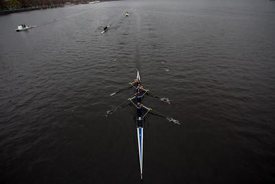 2V4 going under Harvard Bridge at the 1000 meter mark.