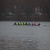 3V8 practicing on the Charles.  The water was too rough in the basin so the vrews stayedupstream of BU bridge.
