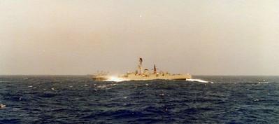 HMAS Stuart (DE48), Indian Ocean 1978.