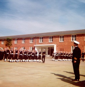 Recruit School passing out parade, HMAS Cerberus, 1976.