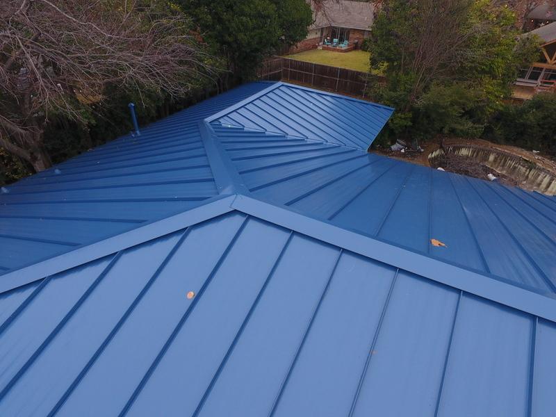 Royal Blue Standing Steam Metal Roof