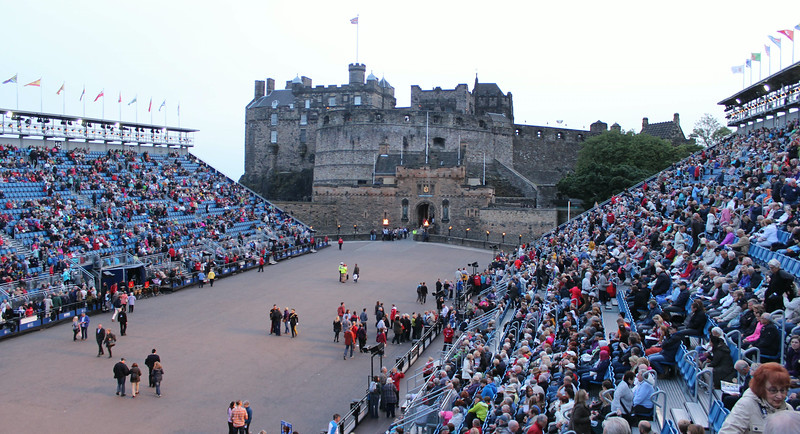 Edinburgh Castle and Esplanade (before the show which starts about 21:00 and runs for approx 90 minutes