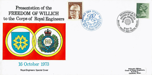 RE Special Cover: 16 Oct 1973