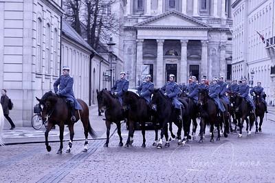 2009-01-04 Monachy in Denmark, Royal New year Tradition 2009,  Generalprøve
