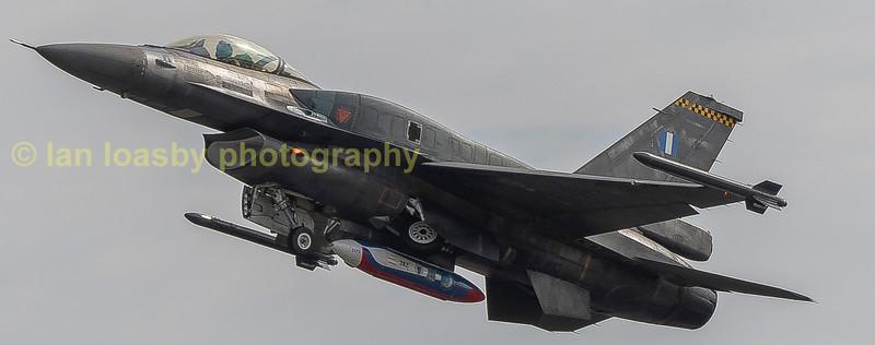 Greek AF F16 departs